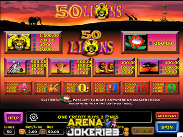 Slot Fifty Lions