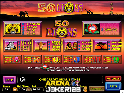 Slot Fifty Lions